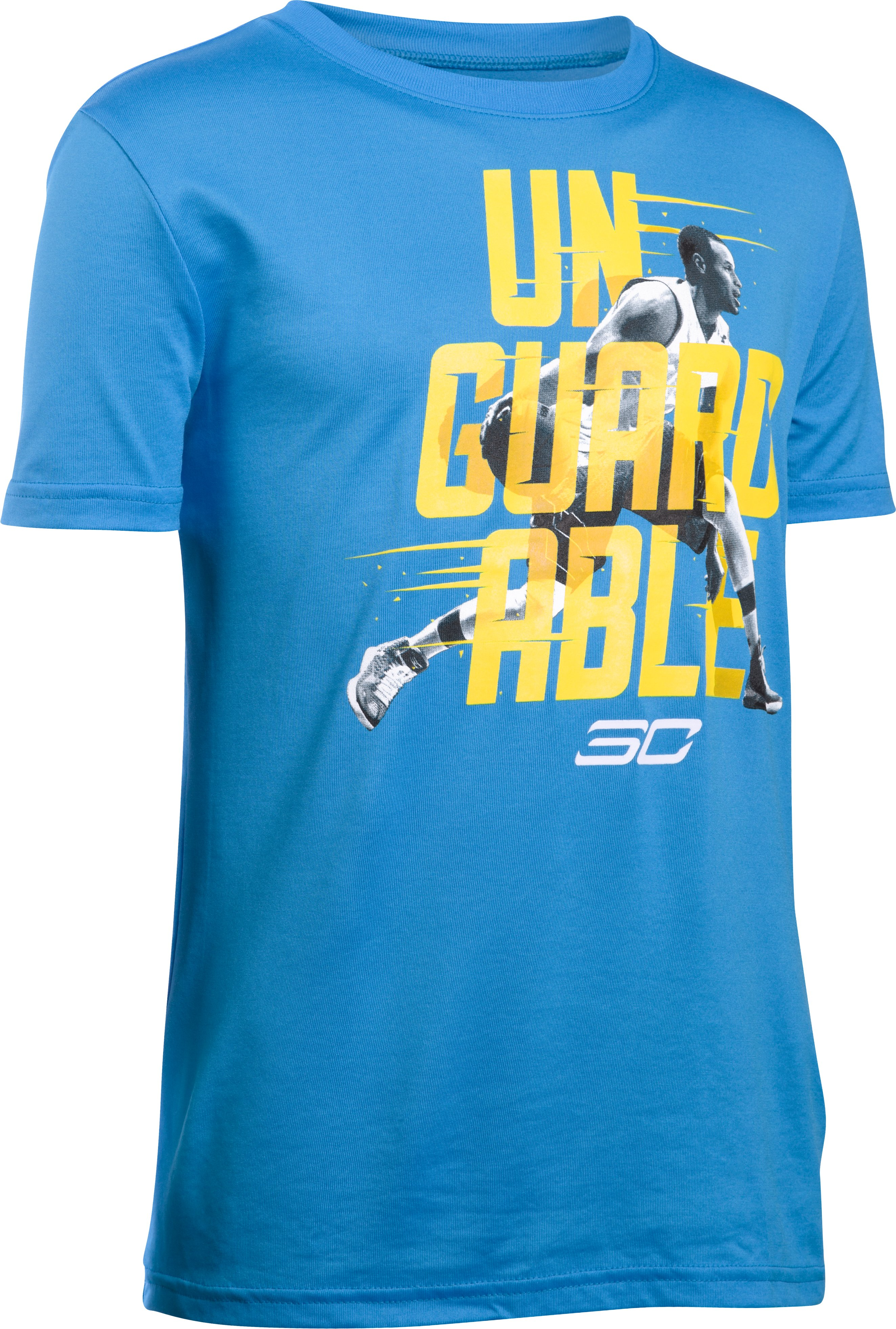 Boys' SC30 Unguardable T-Shirt, ELECTRIC BLUE, undefined