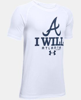 New Arrival Boys' Atlanta Braves I Will UA Tech™ T-Shirt LIMITED TIME: FREE SHIPPING 1 Color $24.99