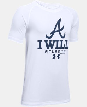 New Arrival Boys' Atlanta Braves I Will UA Tech™ T-Shirt  1 Color $24.99