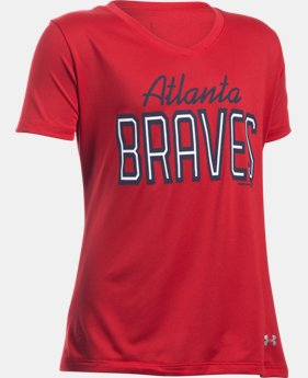 Girls' Atlanta Braves UA Tech™ T-Shirt LIMITED TIME: FREE U.S. SHIPPING 1 Color $18.99