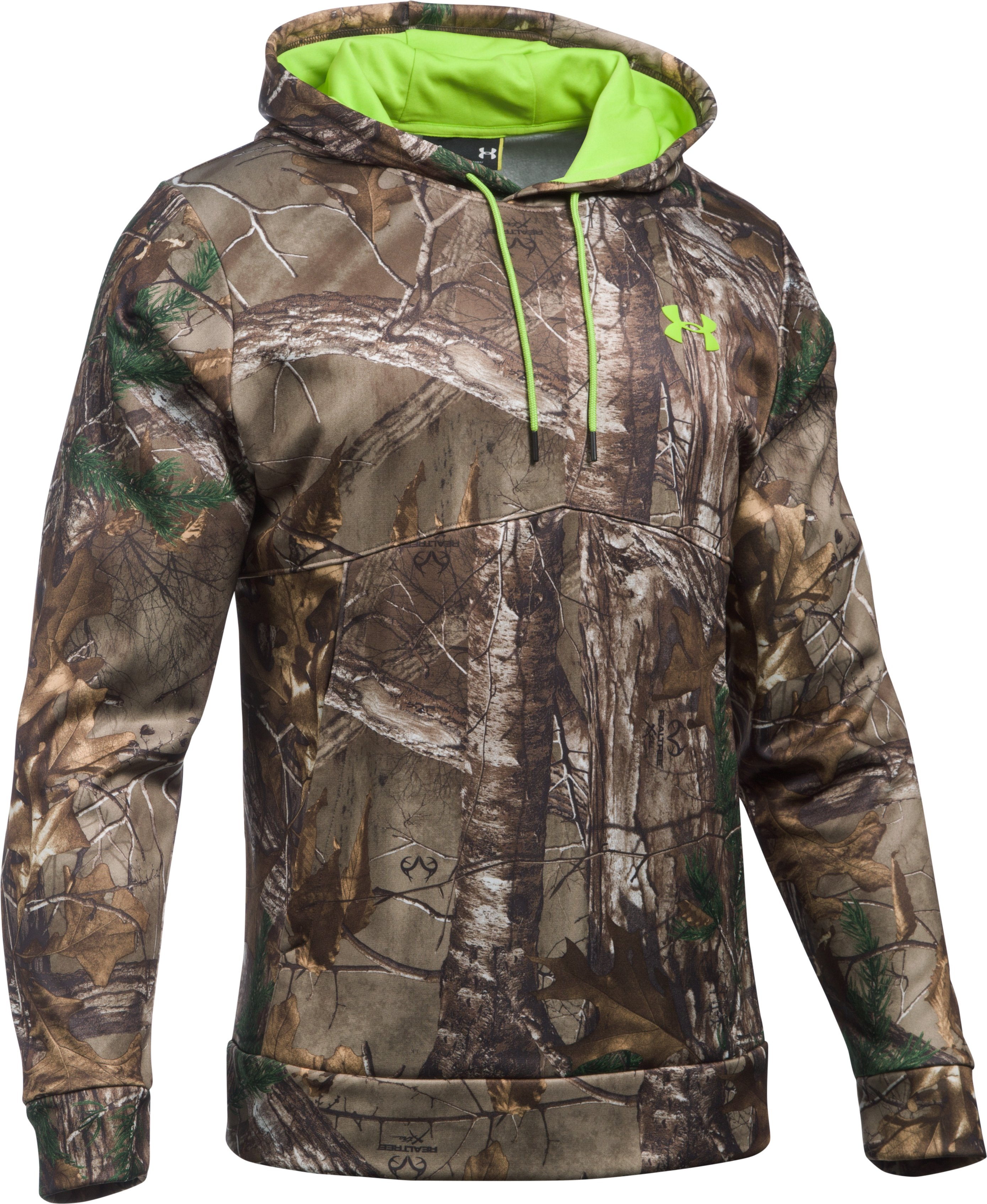 Men's UA Scent Control Camo Hoodie, REALTREE AP-XTRA, undefined