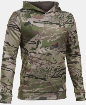 Boys' UA Logo Camo Hoodie  1  Color Available $59.99