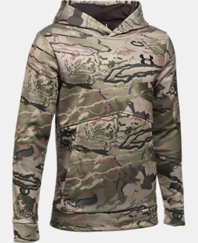 Boys' UA Logo Camo Hoodie LIMITED TIME OFFER 3 Colors $52.49
