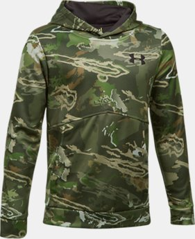 Boys' UA Logo Camo Hoodie LIMITED TIME OFFER 4 Colors $44.99