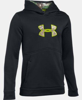 Boys' UA Logo Caliber Hoodie  1 Color $23.24 to $25.49