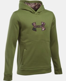 Boys' UA Logo Caliber Hoodie  1 Color $30.99 to $33.99