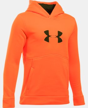 Boys' UA Logo Caliber Hoodie  5 Colors $23.24 to $25.49