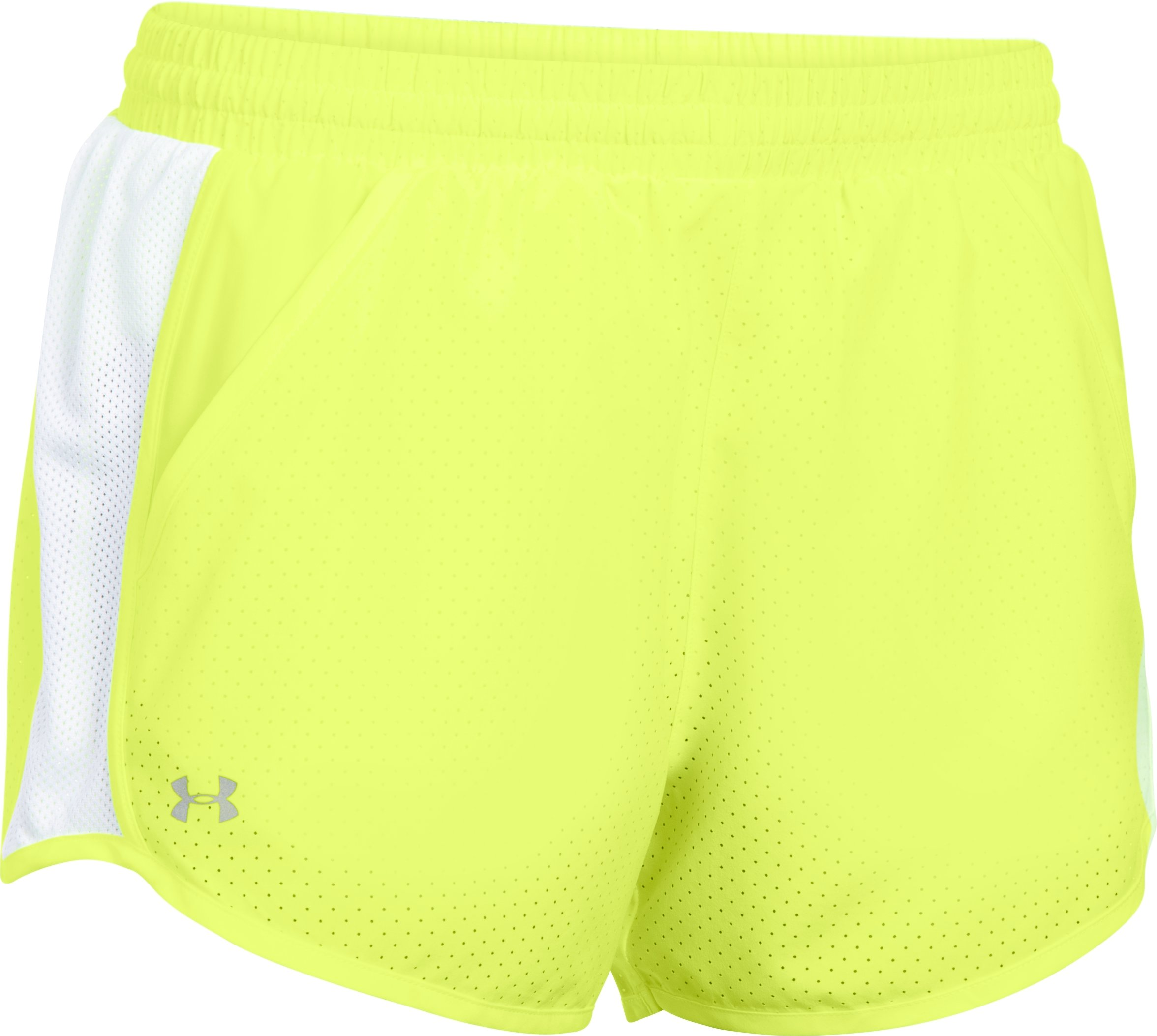 Women's UA Fly-By Perforated Run Shorts, X-Ray, undefined