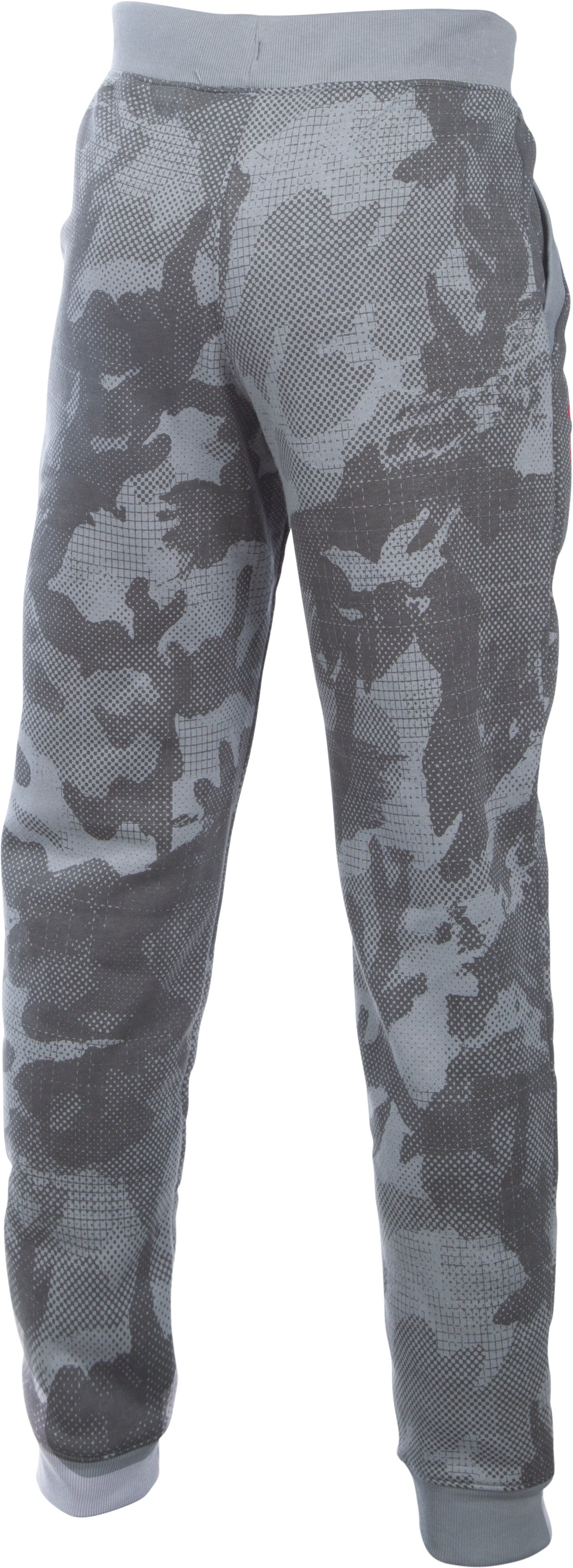 Boys' UA Titan Fleece Printed Jogger, Steel,