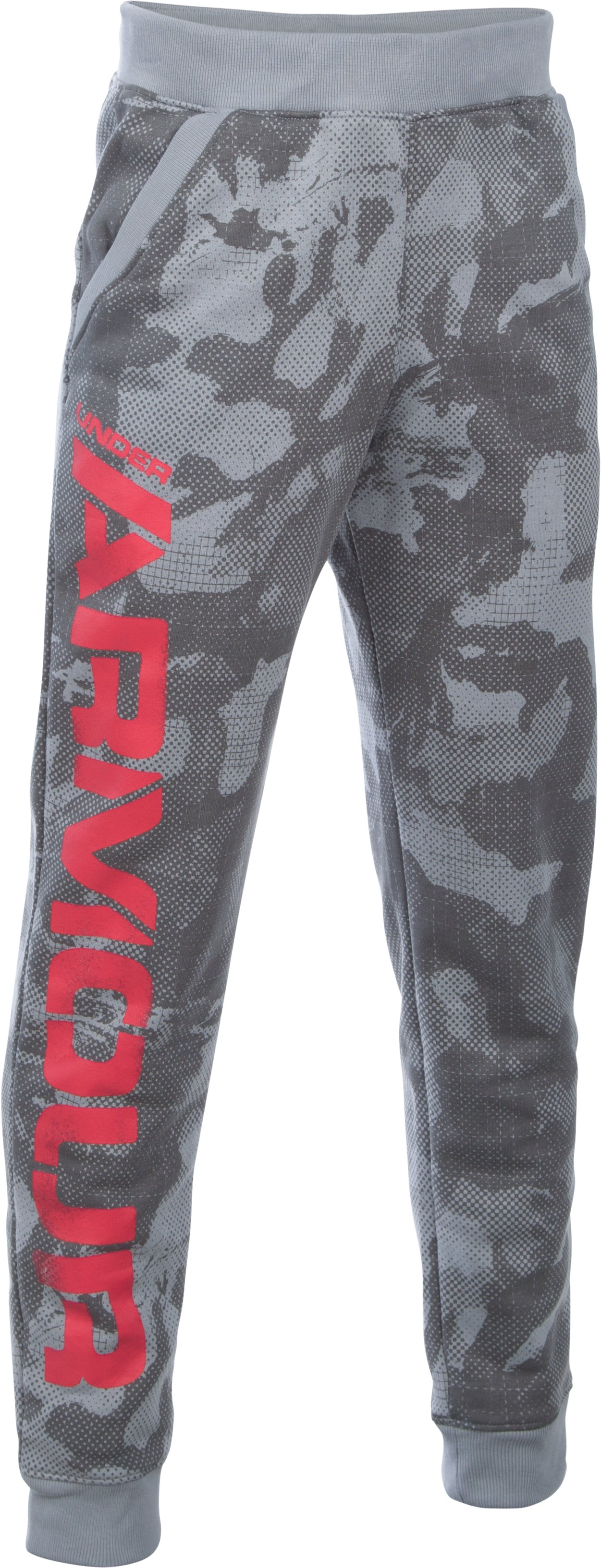Boys' UA Titan Fleece Printed Jogger, Steel, zoomed image