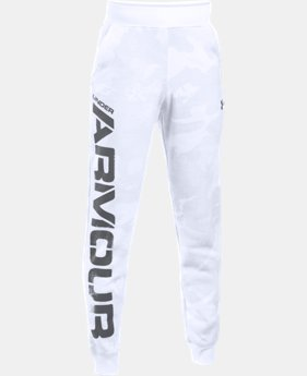Boys' UA Sportstyle Fleece Printed Jogger LIMITED TIME: FREE SHIPPING 1 Color $59.99