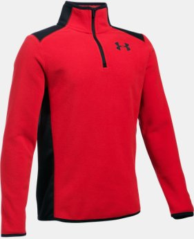 New Arrival  Boys' ColdGear® Infrared Fleece ¼ Zip  1 Color $69.99