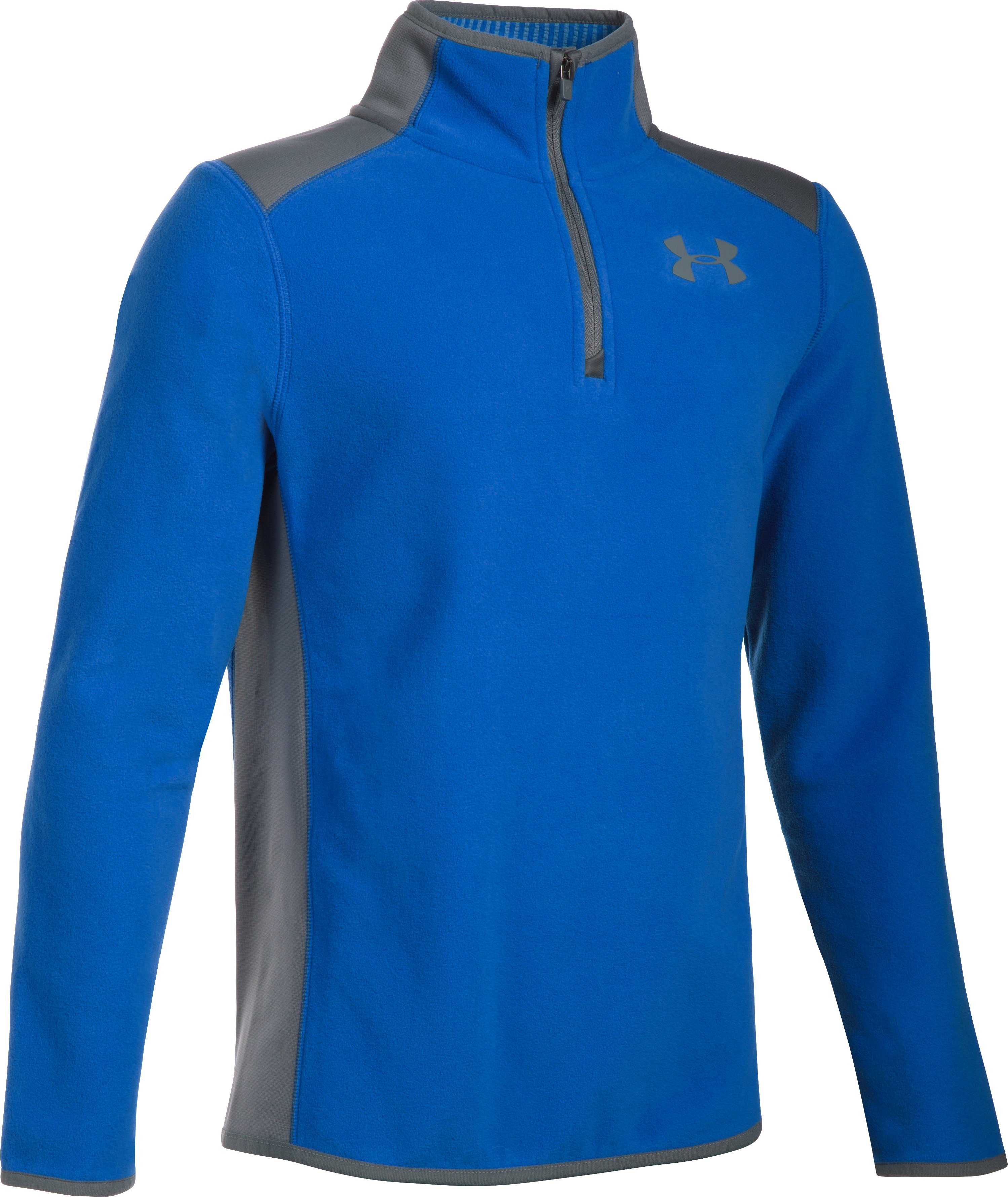 Boys' ColdGear® Infrared Fleece ¼ Zip, ULTRA BLUE