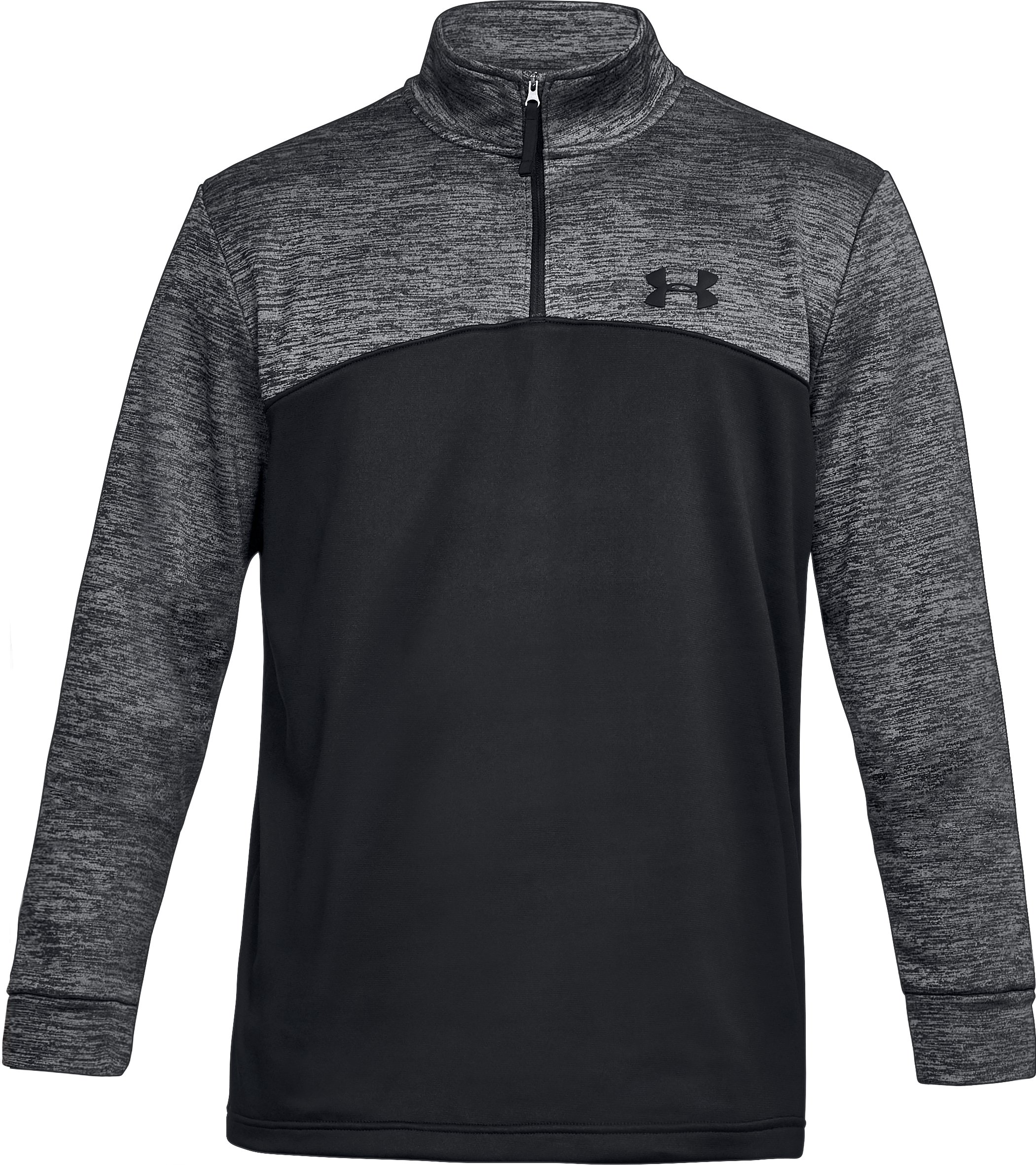 Men's UA Storm Armour Fleece® ¼ Zip, Black ,
