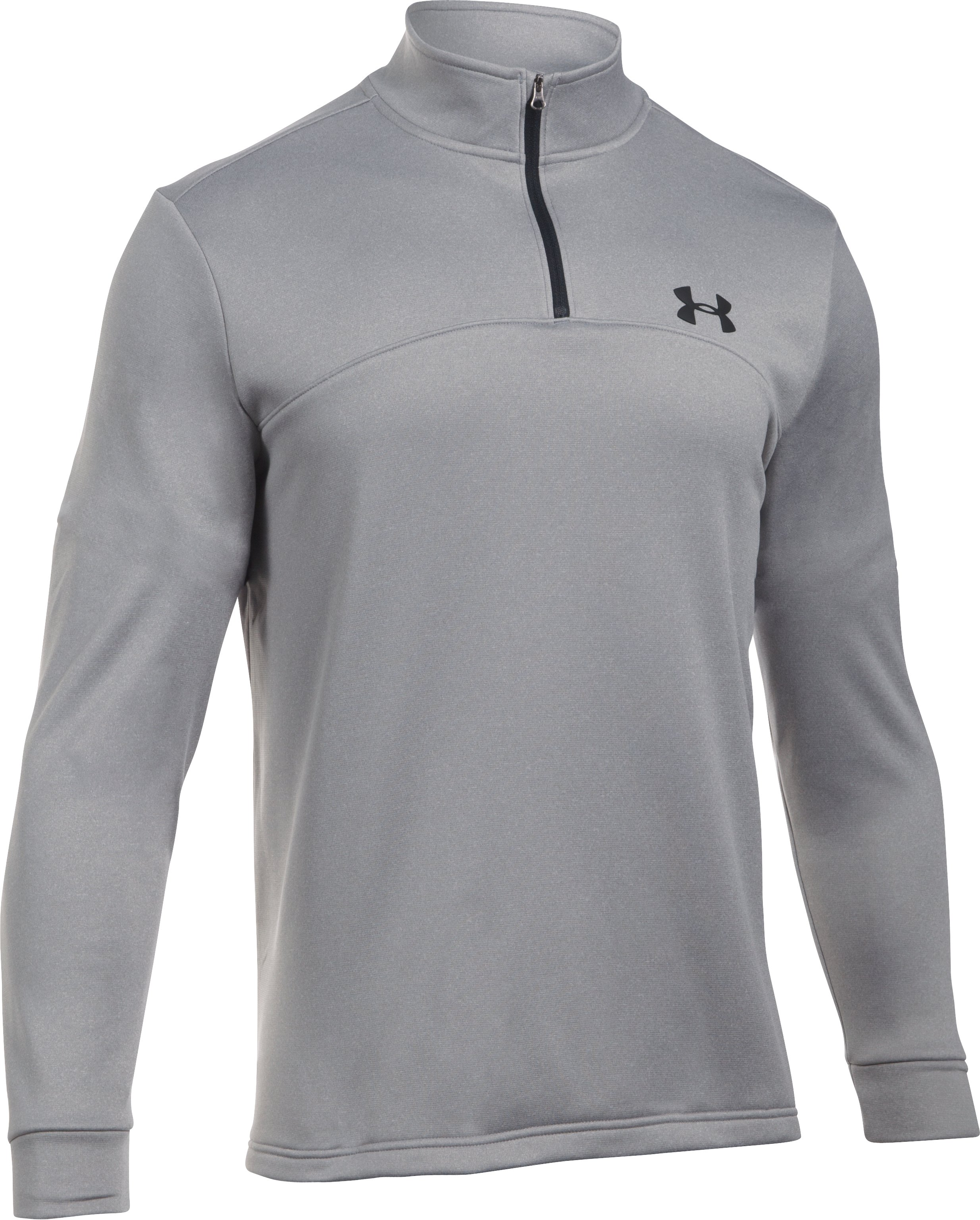 Men's UA Storm Armour Fleece® ¼ Zip, True Gray Heather, undefined