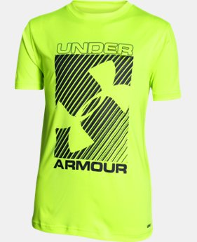 New Arrival Boys' UA Sun Slasher Short Sleeve  1 Color $18.99 to $24.99