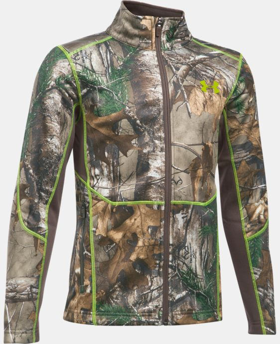 Boys' UA Scent Control Camo Jacket LIMITED TIME OFFER + FREE U.S. SHIPPING 1 Color $59.99