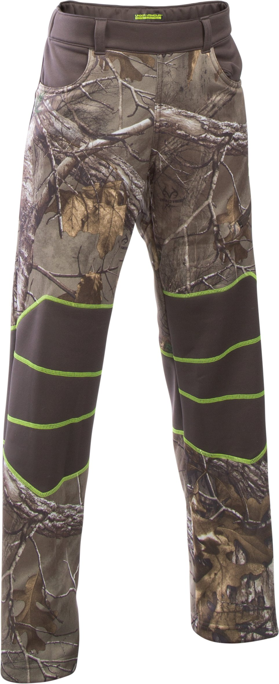 Boys' UA Scent Control Fleece Pants, REALTREE AP-XTRA, zoomed image