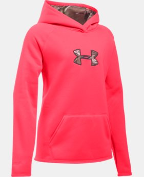 Girls' UA Icon Caliber Hoodie LIMITED TIME: FREE SHIPPING 4 Colors $64.99