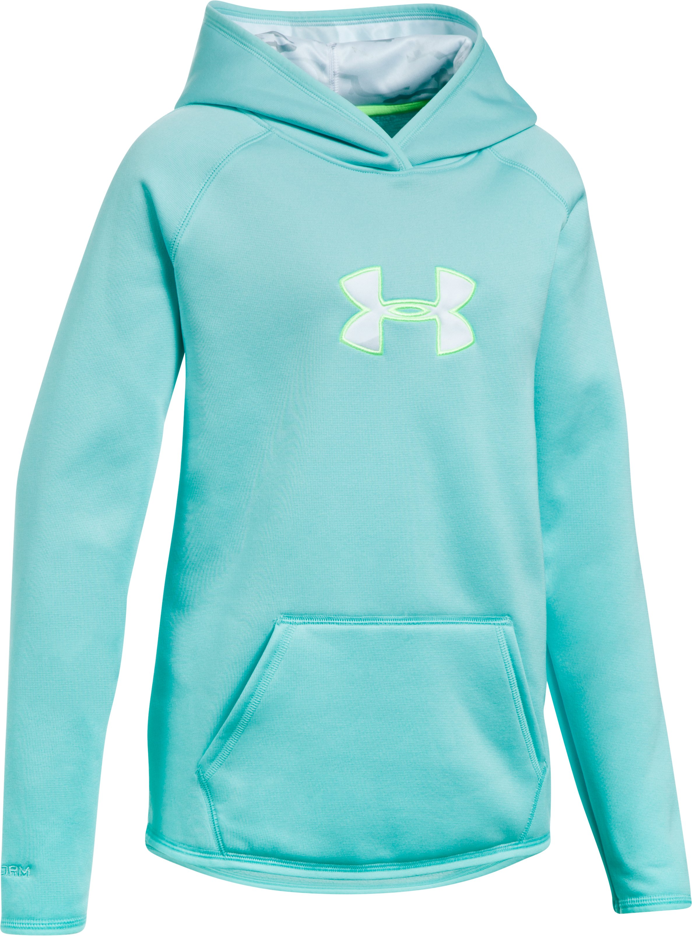 Girls' UA Storm Caliber Hoodie, BLUE INFINITY, zoomed image
