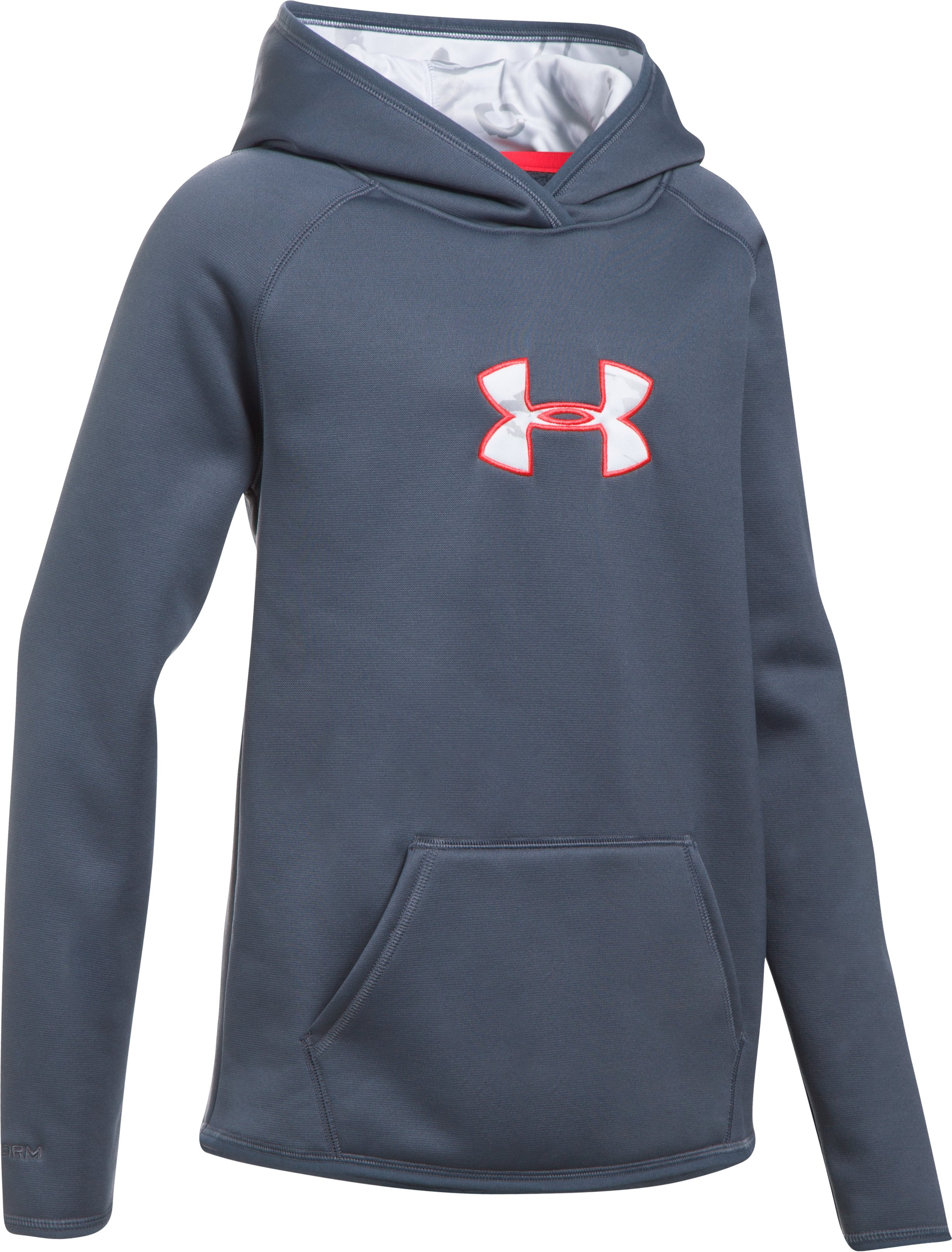 Girls' UA Storm Caliber Hoodie, APOLLO GRAY, undefined