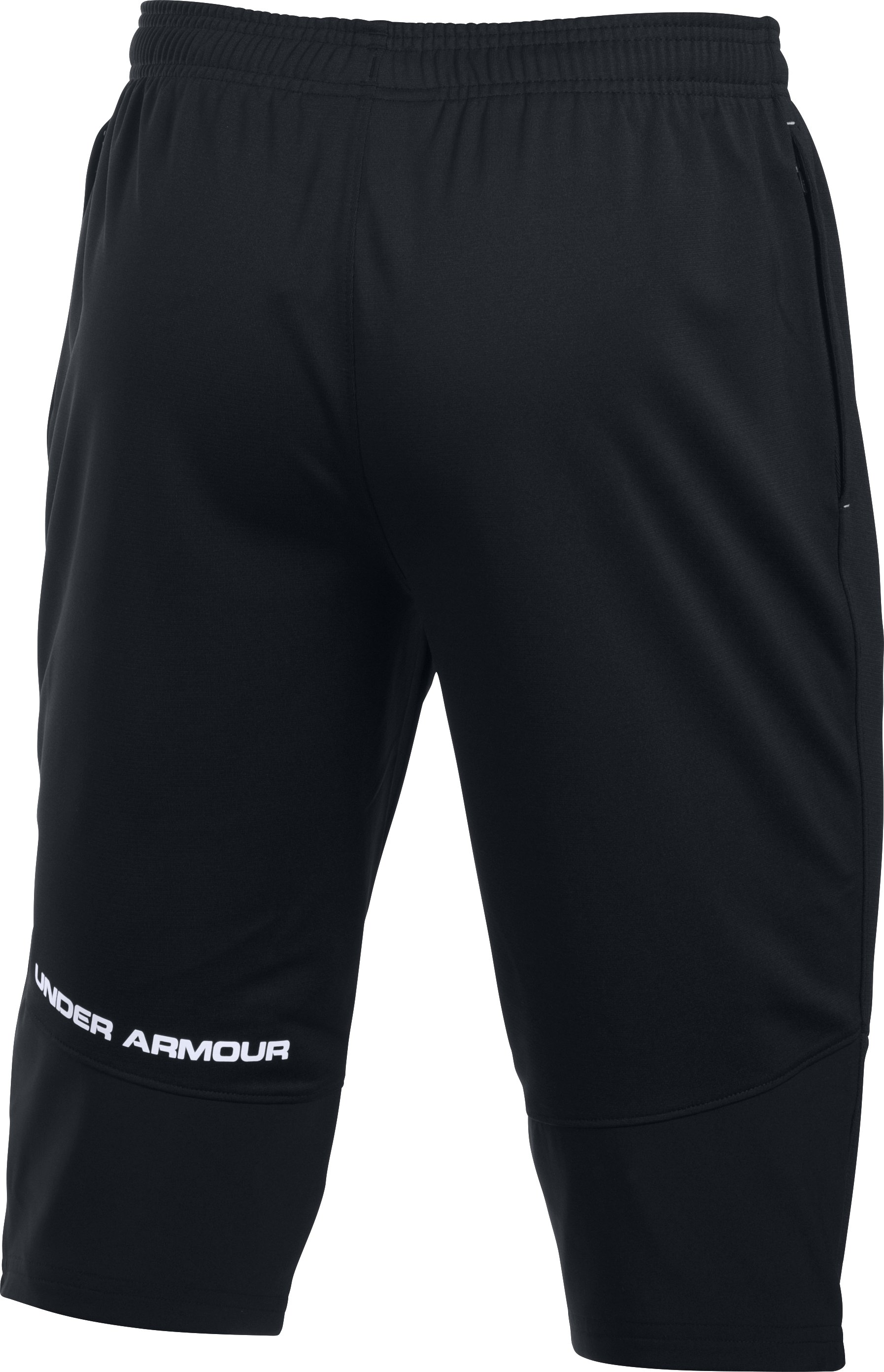 Men's UA Challenger Knit ¾ Pants, Black , undefined