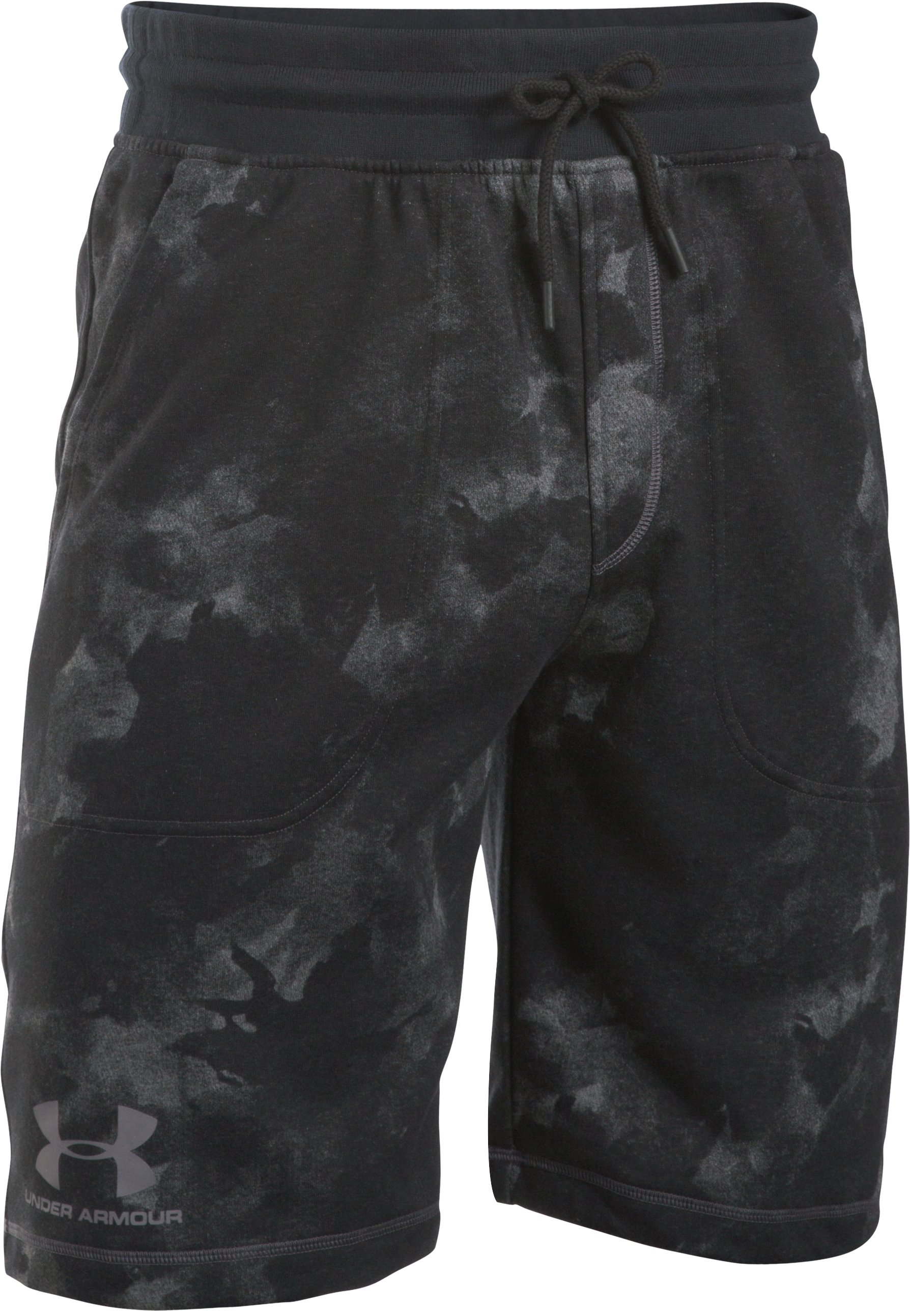 Men's UA Terry Graphic Shorts, Carbon Heather