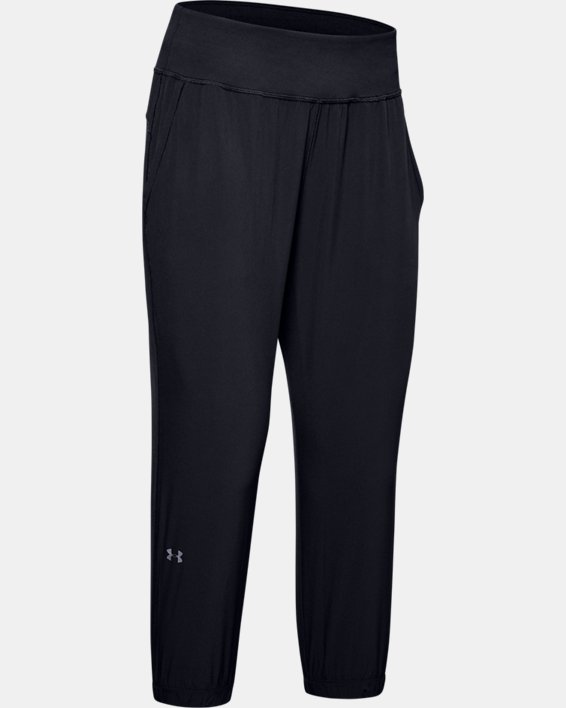 Women's UA Sunblock Crop, Black, pdpMainDesktop image number 7