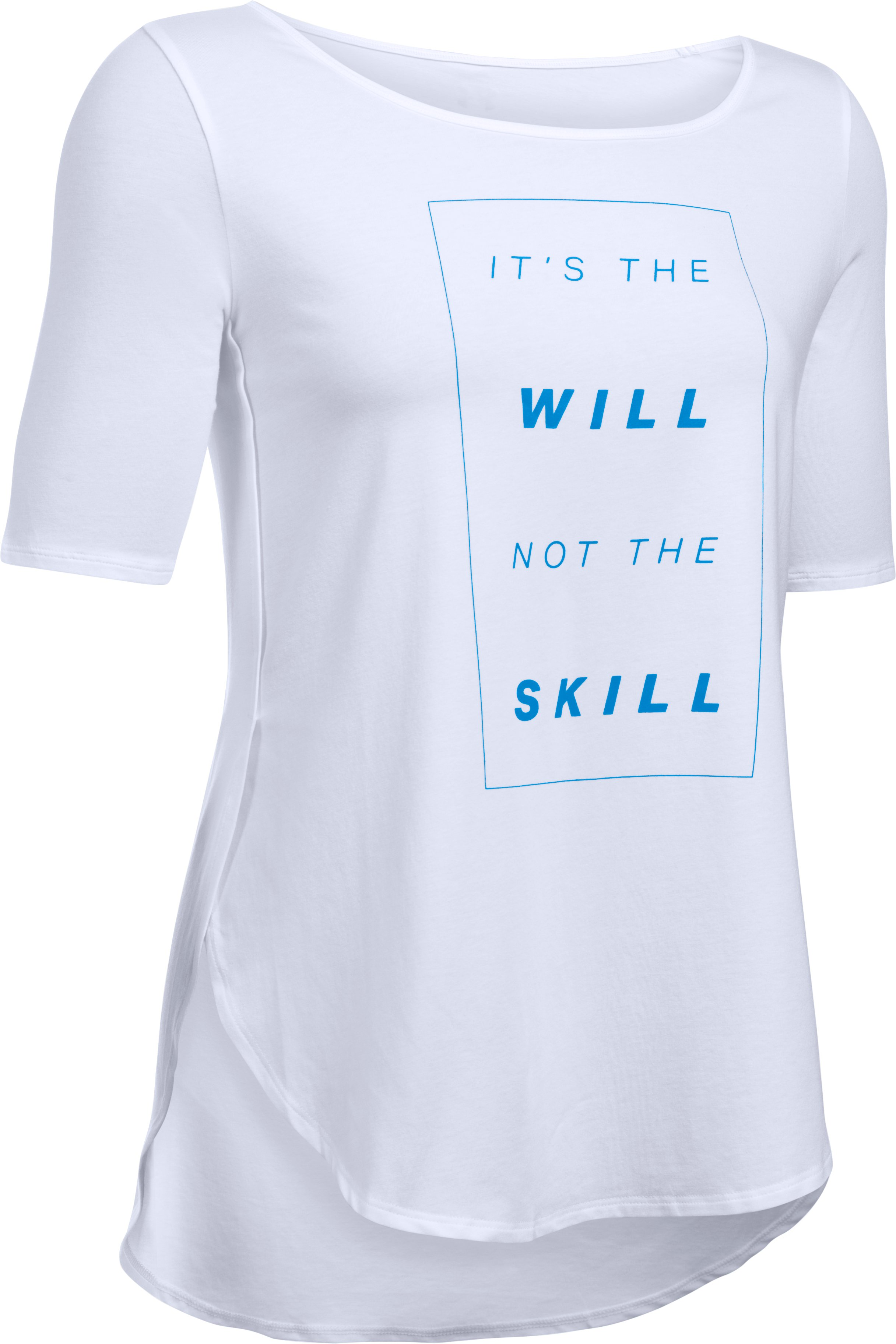 Women's UA Essential It's The Will Demi T-Shirt , White