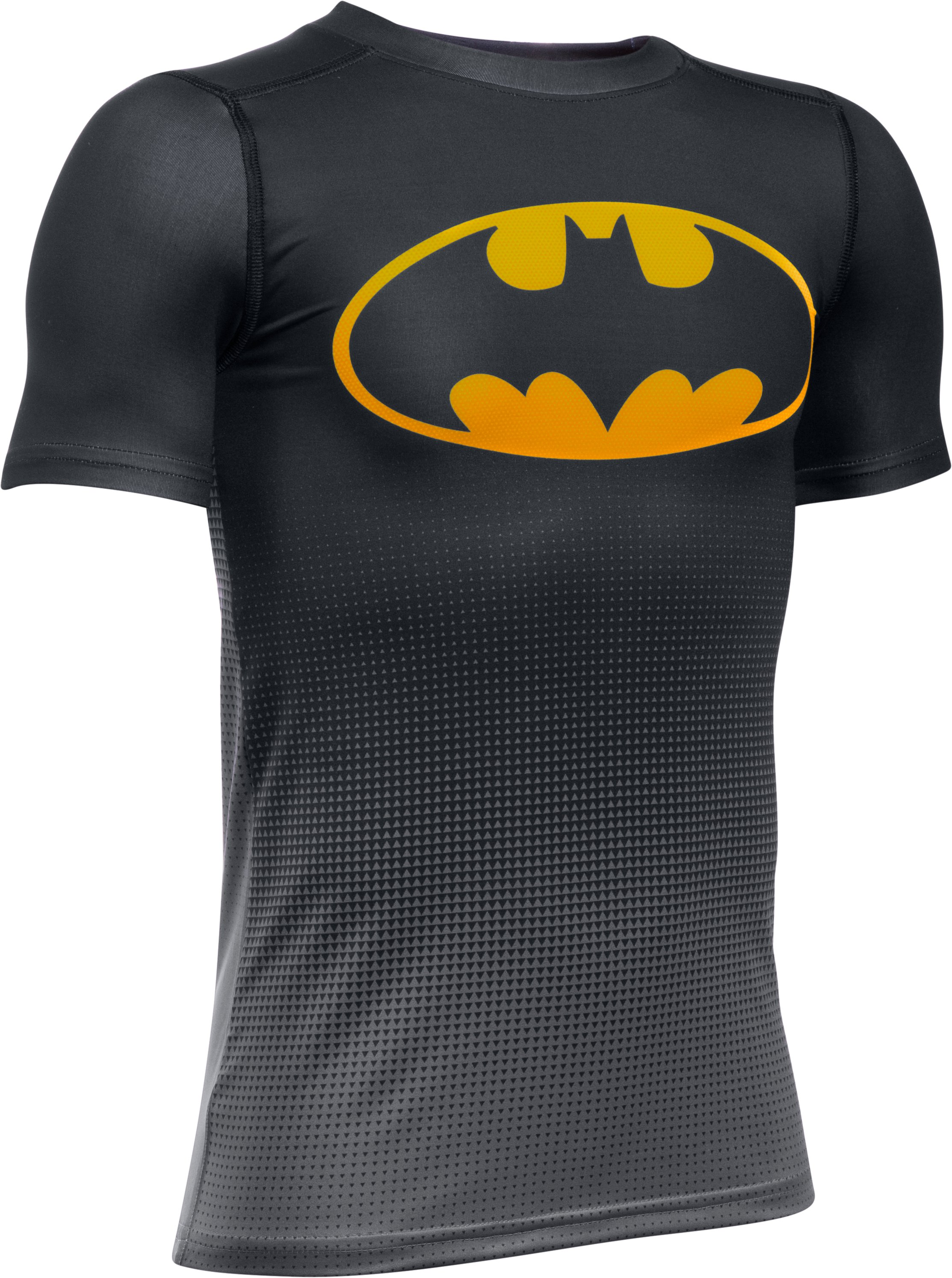 Boys' Under Armour® Alter Ego DC Comics Fitted Baselayer, Black , undefined