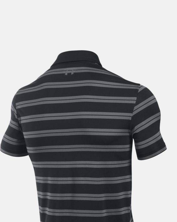 Men's UA Groove Stripe Polo, Black, pdpMainDesktop image number 4