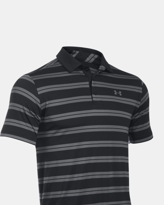 Men's UA Groove Stripe Polo, Black, pdpMainDesktop image number 3