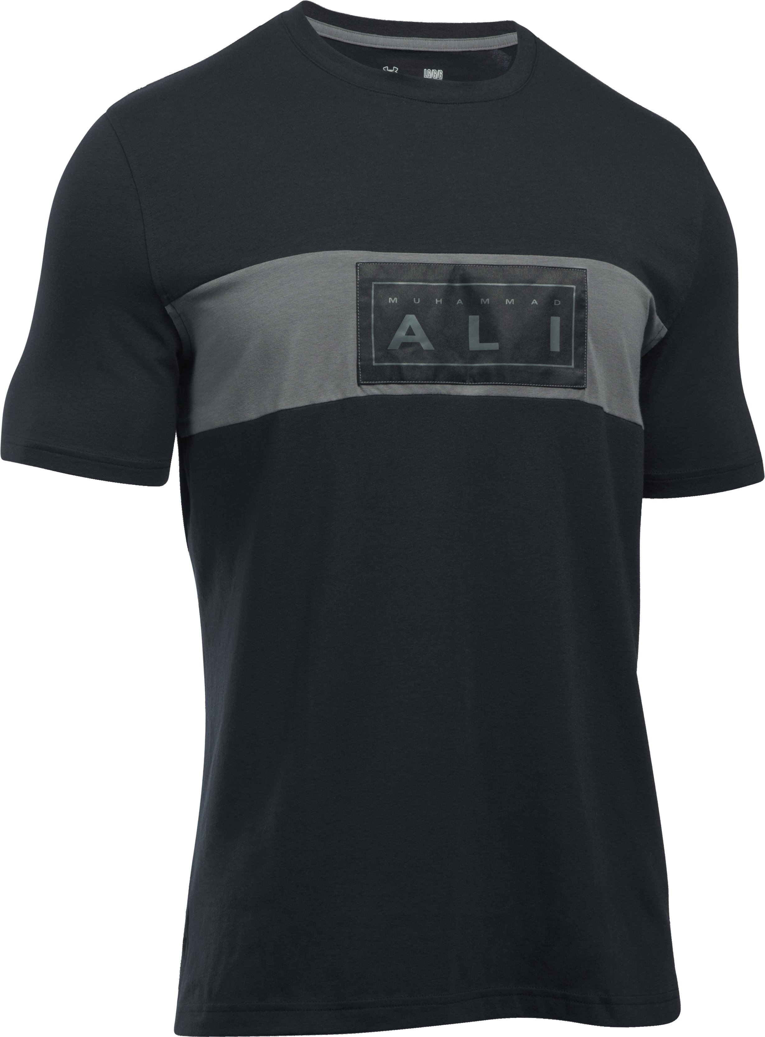 Men's UA x Muhammad Ali Satin Patch T-Shirt, Black , undefined