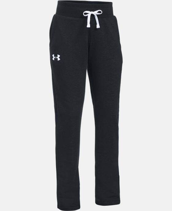 Girls' UA French Terry Pants LIMITED TIME OFFER + FREE U.S. SHIPPING 1 Color $33.99