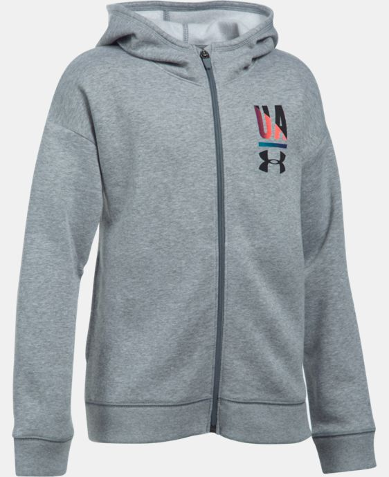 Girls' UA Favorite Full Zip Hoodie LIMITED TIME: FREE SHIPPING 2 Colors $44.99
