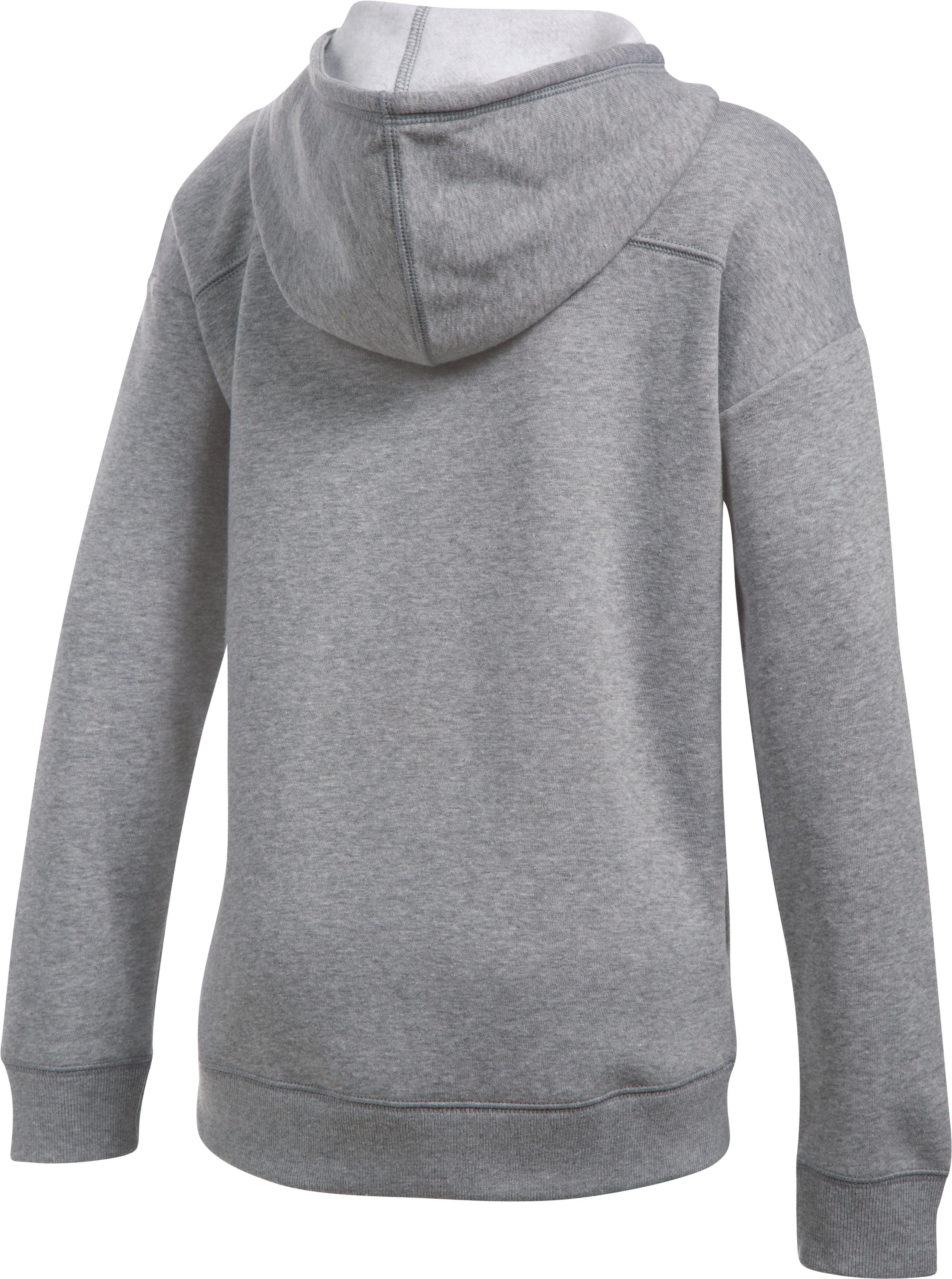 Girls' UA Favorite Full Zip Hoodie, True Gray Heather, undefined