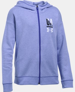 Girls' UA Favorite Full Zip Hoodie LIMITED TIME: FREE U.S. SHIPPING 1 Color $49.99