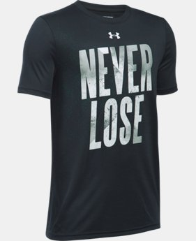 New Arrival Boys' UA Never Lose T-Shirt  1 Color $19.99