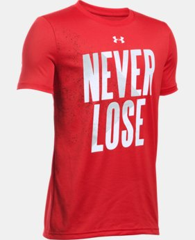 Boys' UA Never Lose T-Shirt LIMITED TIME: FREE U.S. SHIPPING  $14.99