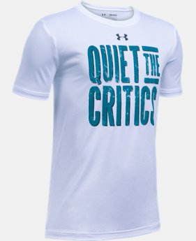 Boys' UA Quiet The Critics T-Shirt  1 Color $14.99