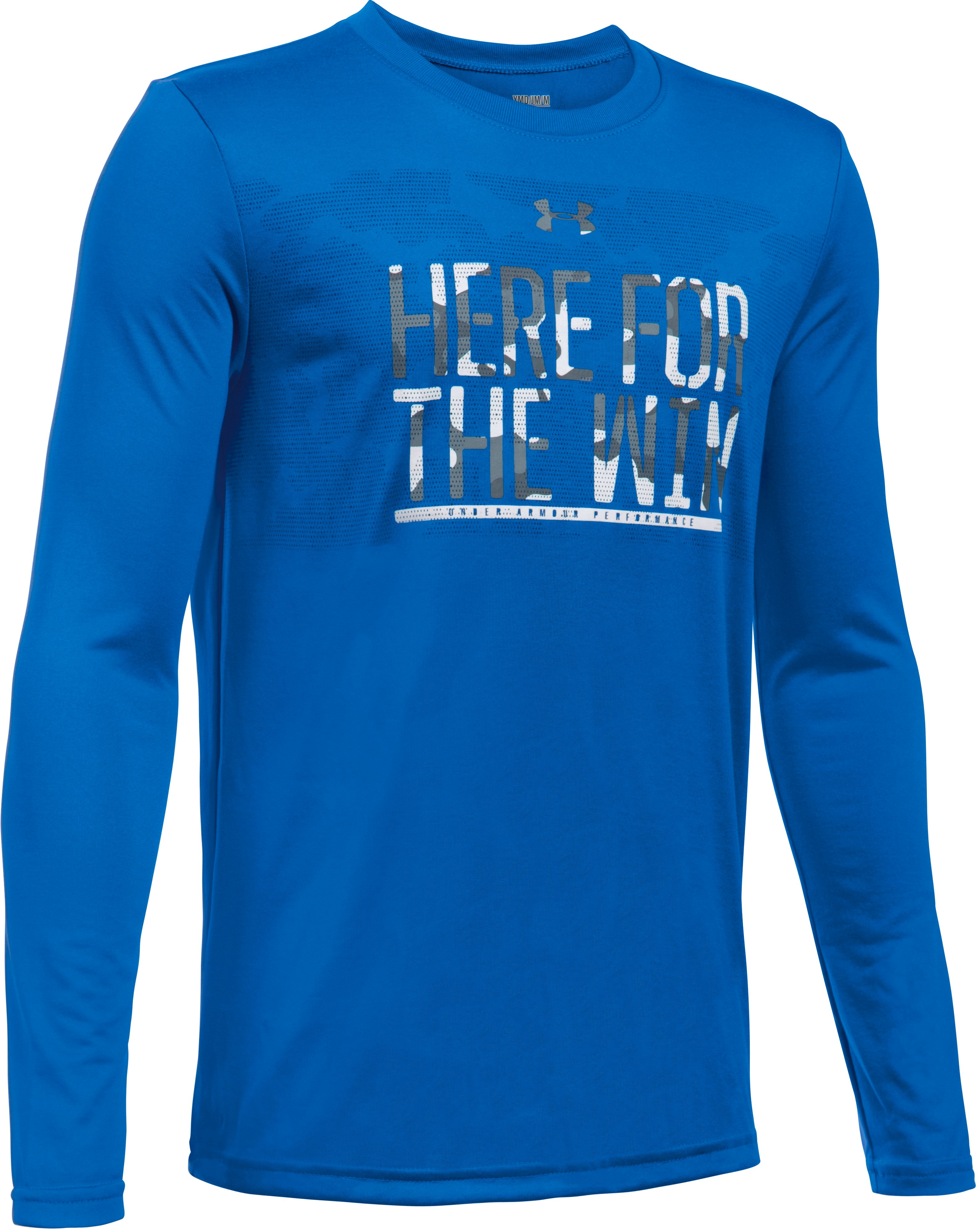 Boys' UA Here For The Win Long Sleeve, ULTRA BLUE, undefined