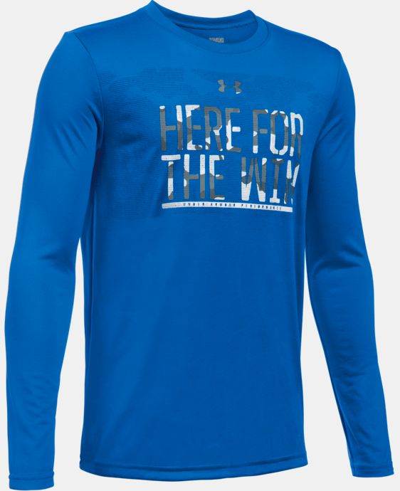 Boys' UA Here For The Win Long Sleeve LIMITED TIME: FREE SHIPPING 1 Color $29.99