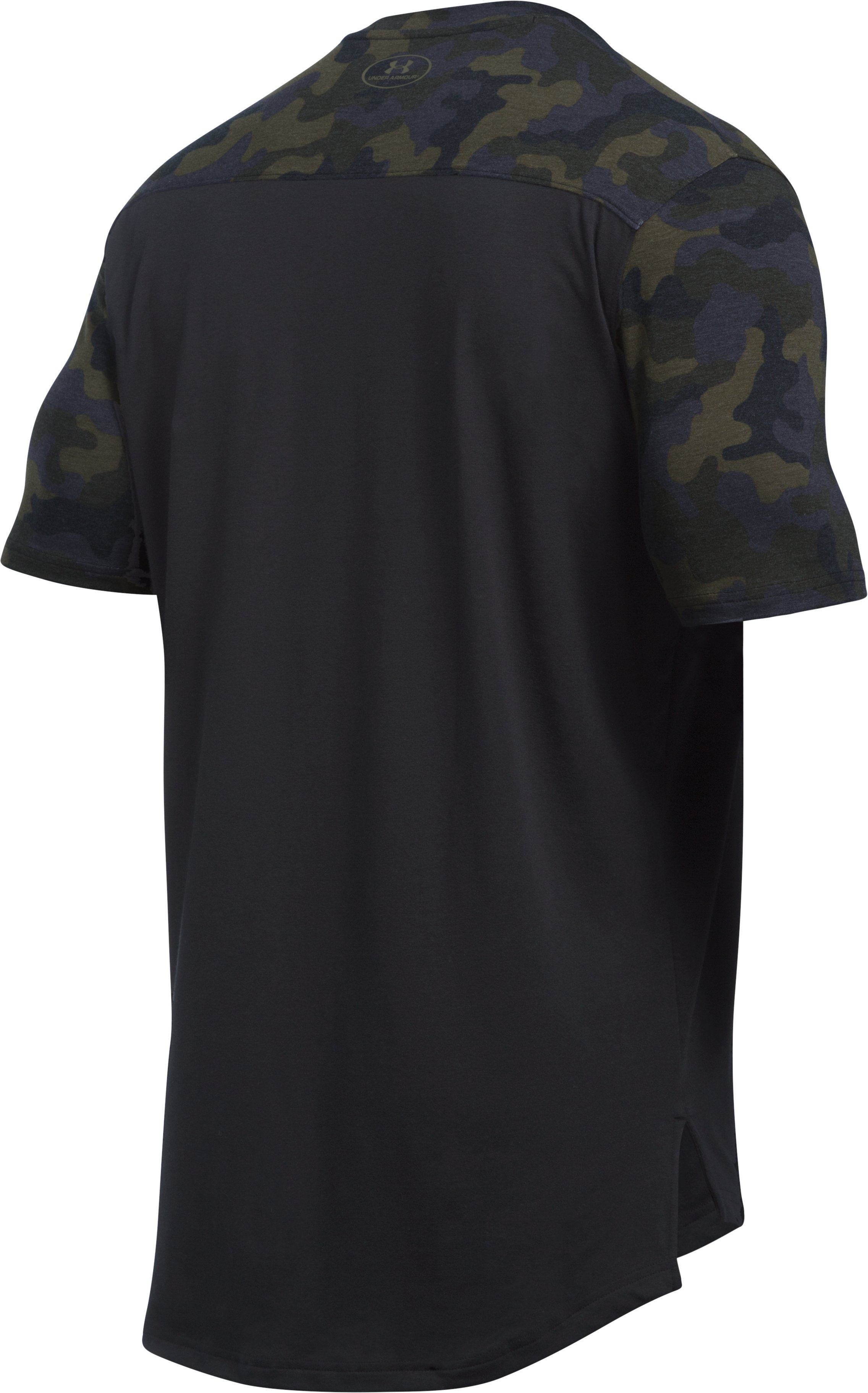 Men's UA Pursuit Circle Camo T-Shirt, Black