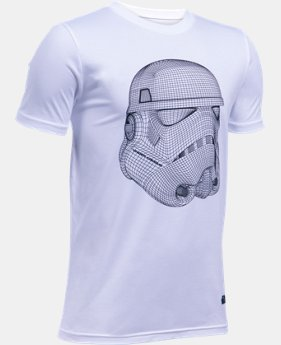 New Arrival  Boys' UA Star Wars Trooper T-Shirt LIMITED TIME: FREE SHIPPING 1 Color $34.99