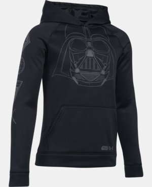 New Arrival Boys' Star Wars Darth Vader UA Storm Armour® Fleece Hoodie  1 Color $59.99