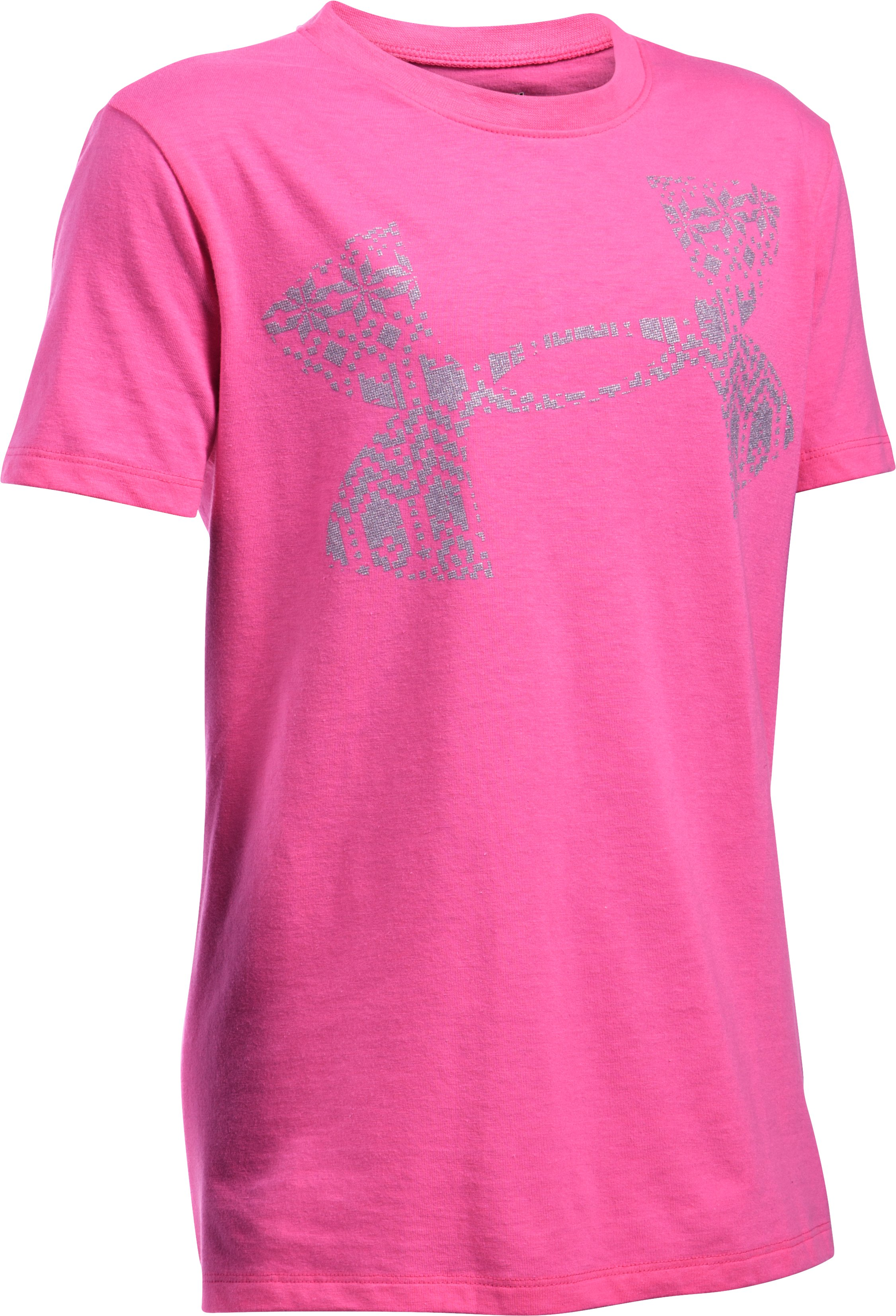 Girls' UA Holiday Logo T-Shirt, CHAOS, undefined