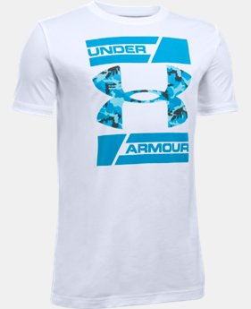 New Arrival Boys' UA Double Decker T-Shirt LIMITED TIME: FREE U.S. SHIPPING 1 Color $19.99
