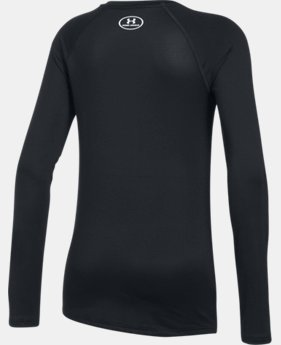 New Arrival  Girls' HeatGear® Armour Long Sleeve  1 Color $34.99
