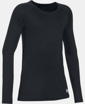 Girls' HeatGear® Armour Long Sleeve LIMITED TIME: FREE SHIPPING 1 Color $26.99