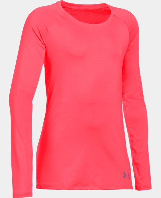 New Arrival  Girls' HeatGear® Armour Long Sleeve LIMITED TIME: FREE SHIPPING 3 Colors $26.99 to $34.99